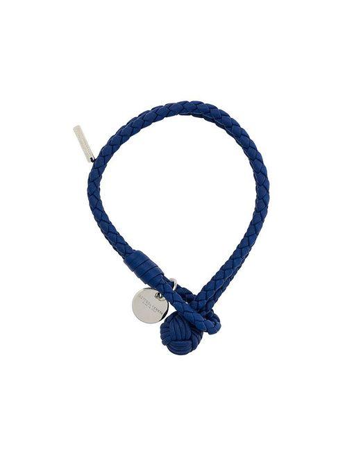 Bottega Veneta - Blue Cobalt Intrecciato Nappa Bracelet - Lyst