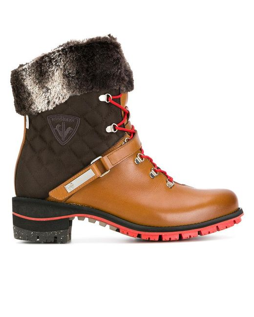 Rossignol - Brown Megeve Laced Boots - Lyst
