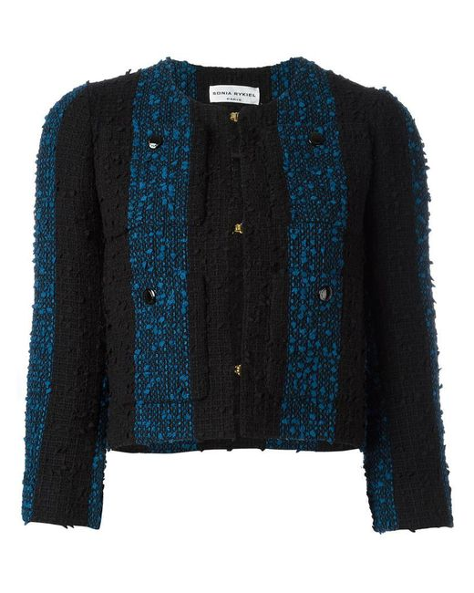 Sonia Rykiel | Black Short Tweed Jacket | Lyst