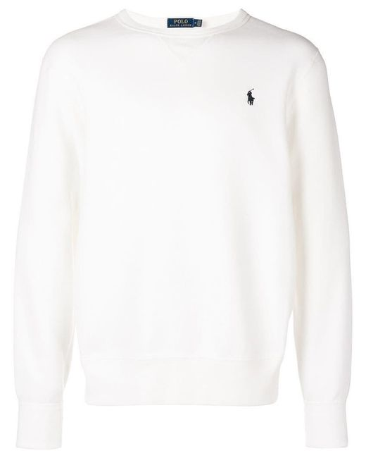 4e0903fa5f9b Polo Ralph Lauren - White Logo Jersey Sweatshirt for Men - Lyst ...
