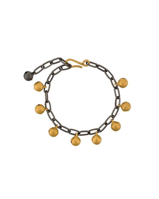 Ileana Makri | Metallic Jingle Bell Chain Bracelet | Lyst