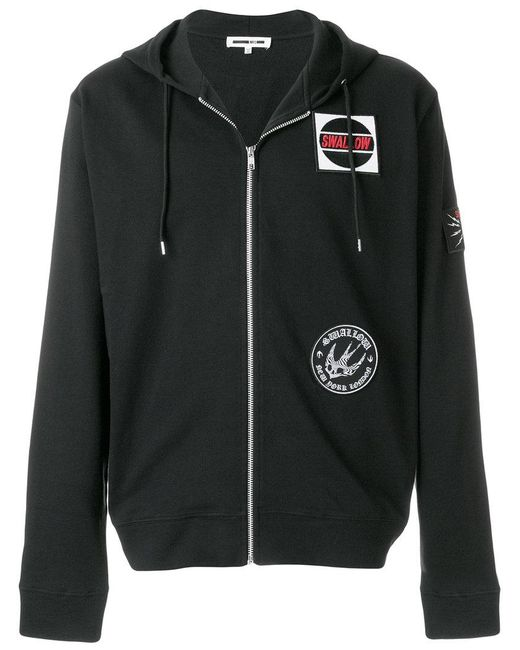 McQ Alexander McQueen - Black Logo Patch Hoodie for Men - Lyst