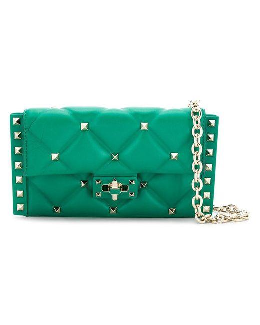 Valentino - Green Garavani Rockstud Cross-body Bag - Lyst