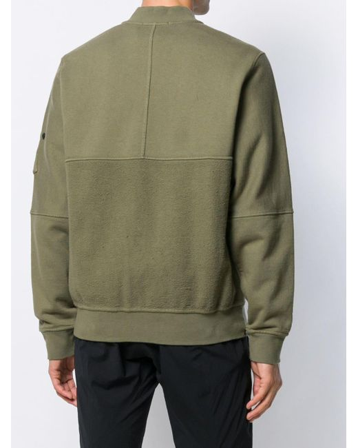 e47db2167 Stone Island Shadow Project Casual Bomber Jacket in Green for Men - Lyst