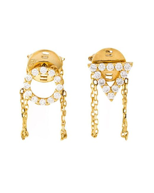 Eshvi - Metallic 'april' Earrings - Lyst