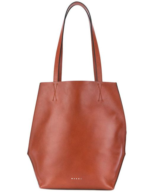 Marni - Brown Top Handle Shopper Tote - Lyst