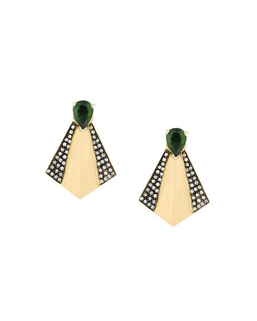 Ileana Makri - Metallic Fan Stud Earrings - Lyst