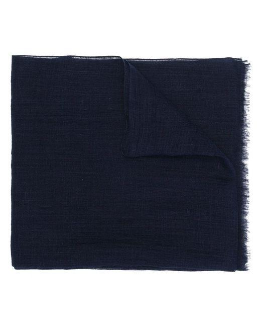 Eleventy - Blue Écharpe à bords frangés for Men - Lyst