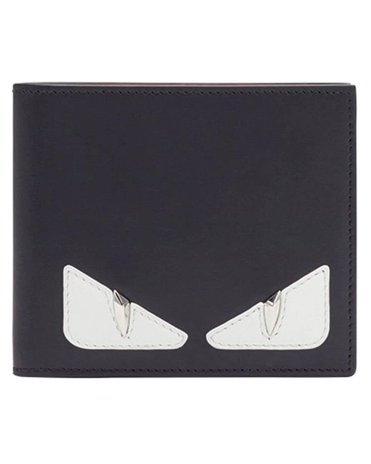 Fendi - Black Bag Bugs Bifold Wallet for Men - Lyst