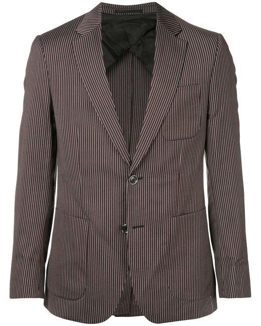 Cerruti 1881 - Gray Striped Single-breasted Blazer for Men - Lyst