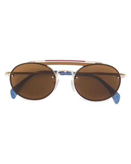 Tommy Hilfiger - Metallic Denim Detail Sunglasses - Lyst