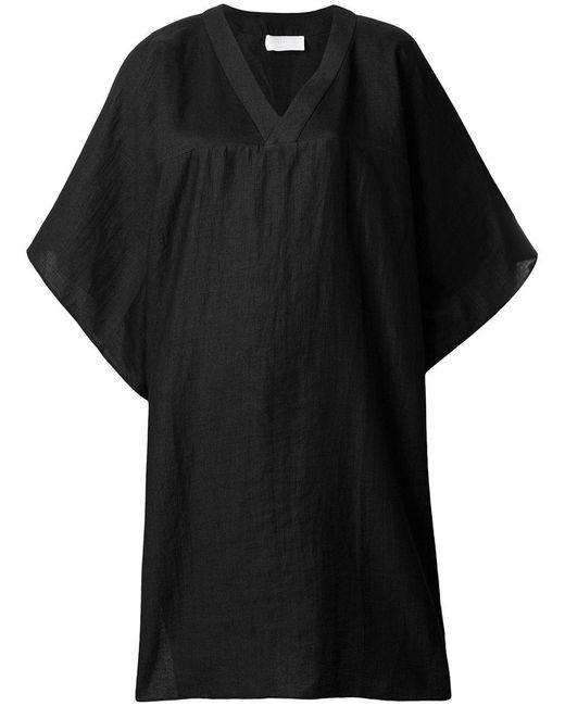 Reality Studio - Black V-neck Tunic Dress - Lyst