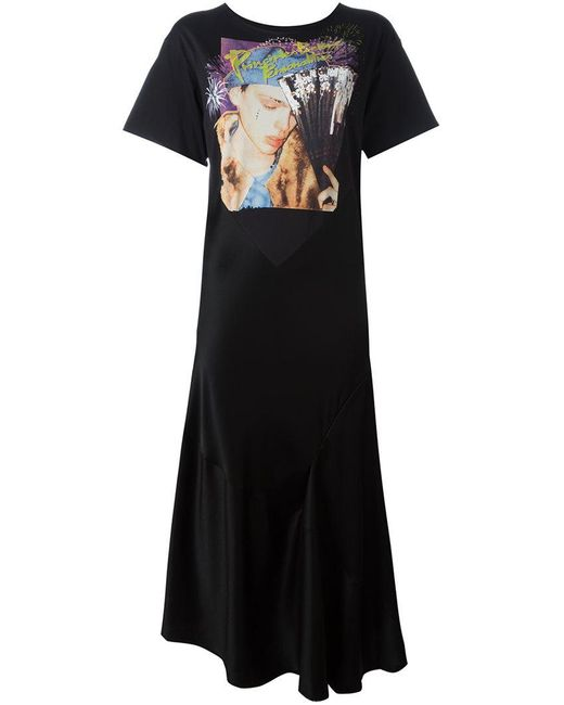 Maison Margiela | Black Printed Dress | Lyst