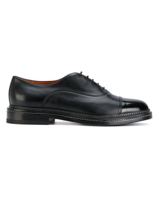 Santoni | Black Classic Oxford Shoes for Men | Lyst