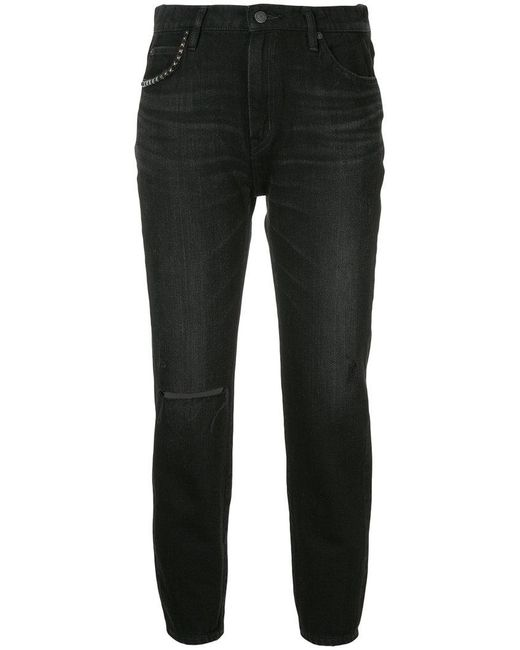 Hysteric Glamour - Black Slash Knee Slim Fit Jeans - Lyst