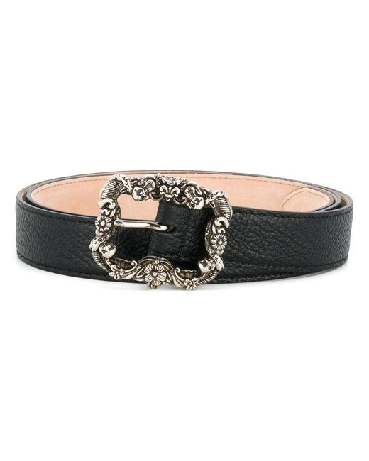 Alexander McQueen - Black Engraved Buckle Belt for Men - Lyst