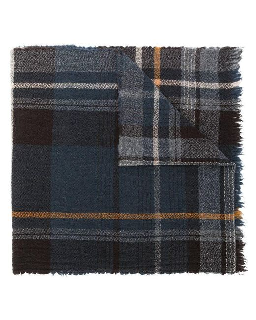 Altea - Blue Plaid Knitted Scarf for Men - Lyst