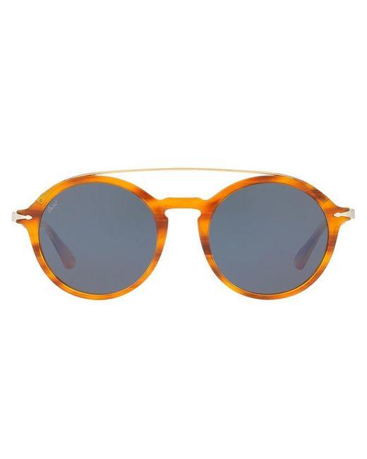 42d998eb157e2 Persol - Brown Round Sunglasses for Men - Lyst ...
