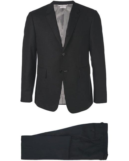 Thom Browne Black Plain Formal Suit for men