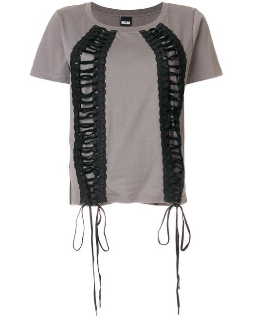 KTZ - Green Lace-up T-shirt - Lyst