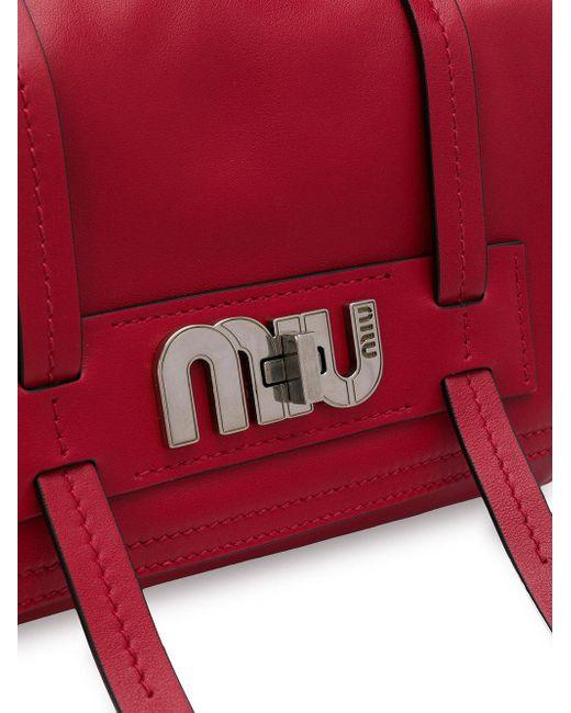 974e38f9fadf ... Miu Miu - Red Grace Lux Bag - Lyst