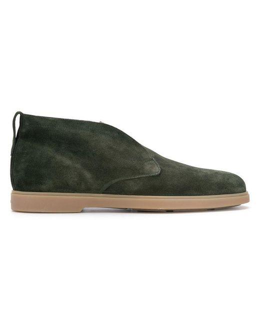 Santoni - Green Desert Boots for Men - Lyst
