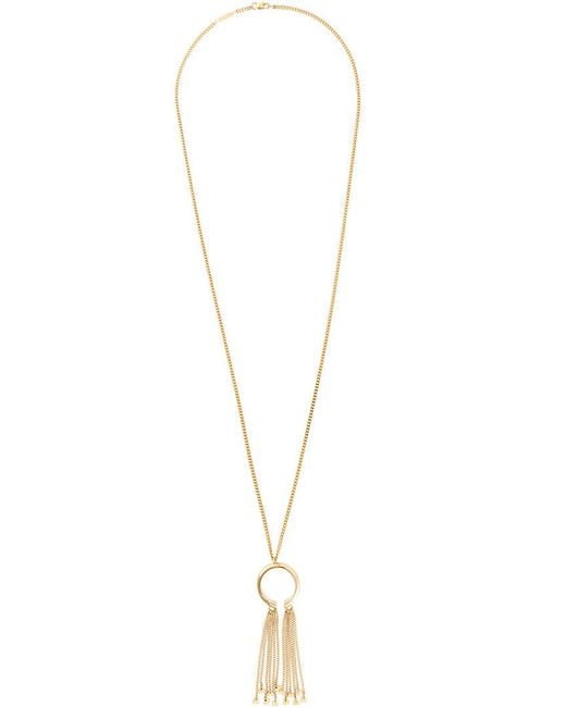 Chloé - Metallic Ring Chain Tassel Necklace - Lyst