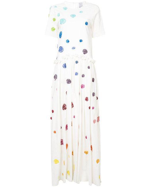 Rosie Assoulin - White Long T-shirt Dress - Lyst