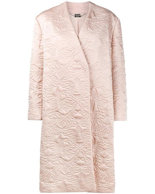 Alexander McQueen - Multicolor Butterfly Embroidered Cocoon Coat - Lyst