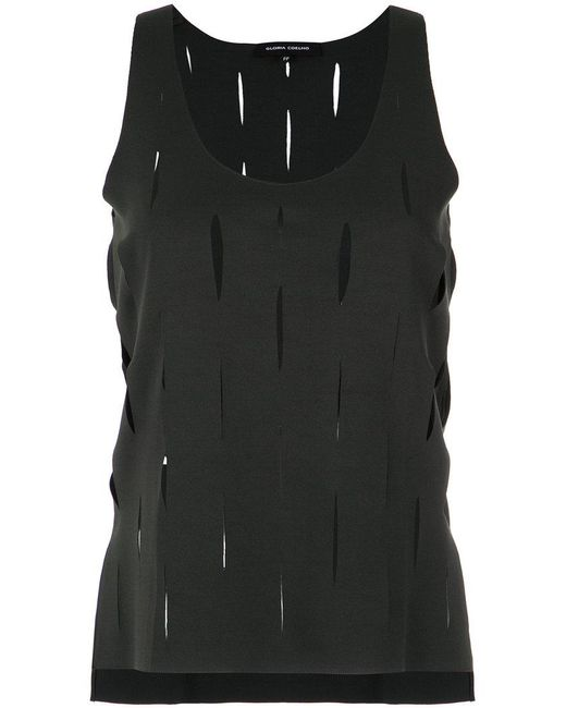 Gloria Coelho - Gray Straight Tank Top - Lyst