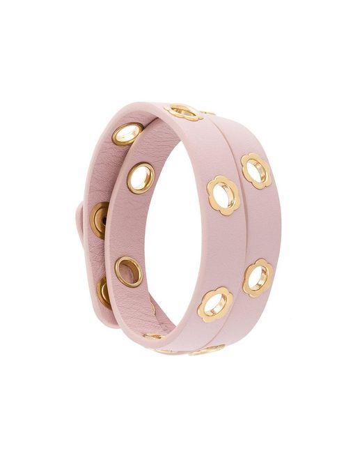 Ferragamo   Pink Flower Wrap Bracelet   Lyst