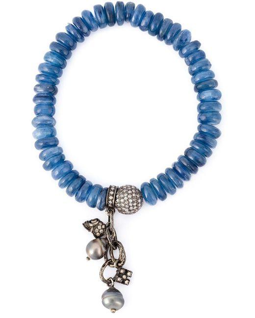 Loree Rodkin - Blue Embellished Diamond Bracelet - Lyst