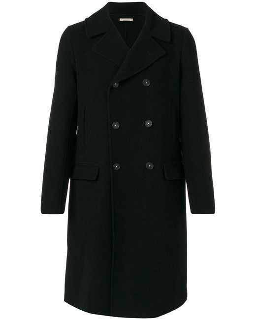 Massimo Alba - Blue Flap Pockets Double-breasted Coat for Men - Lyst