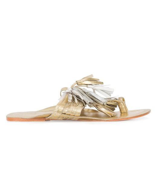 Figue - Multicolor Scaramouche Leather Tassel Sandals - Lyst