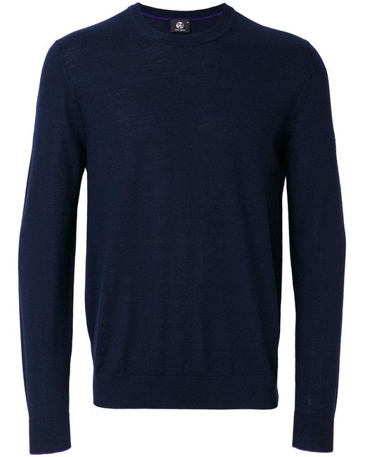 PS by Paul Smith | Blue Crew-neck Jumper for Men | Lyst