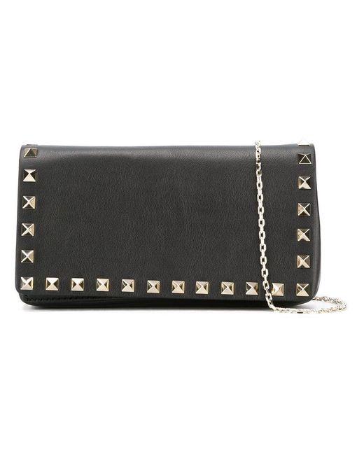 Valentino - Black Garavani Rockstud Crossbody Bag - Lyst