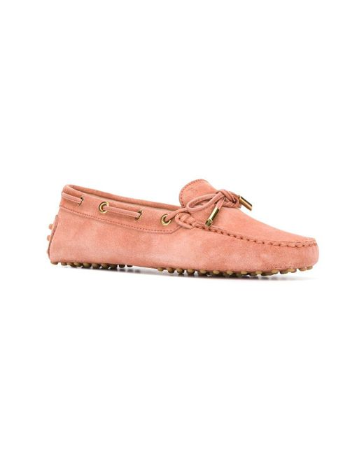 8f743a63cec ... Lyst Tod s - Pink Gommino Loafers ...