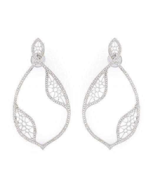 Joelle Jewellery - Metallic Diamond Teardrop Earrings - Lyst