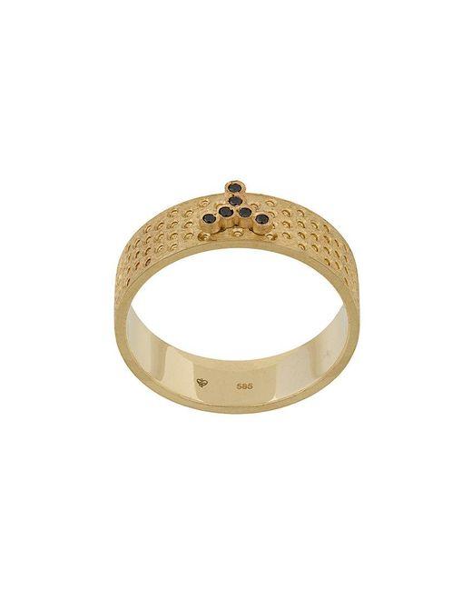 Savoir Joaillerie - Metallic 14kt Yellow Gold Lui Black Diamonds Ring - Lyst