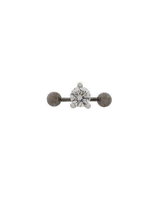 Delfina Delettrez - Metallic 18kt Weißgoldohrstecker mit Diamanten - Lyst