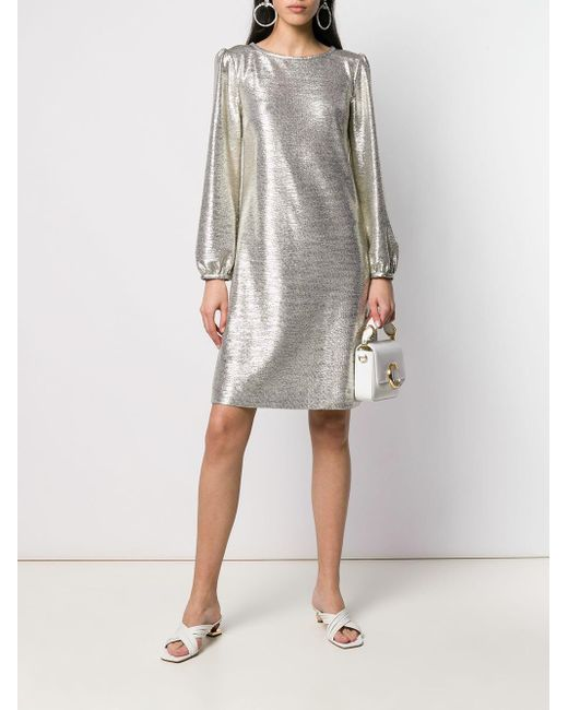 In Ilise Goat Dress Lyst Metallic 7b6fyg