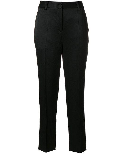Blumarine | Black Cropped Straight-leg Trousers | Lyst