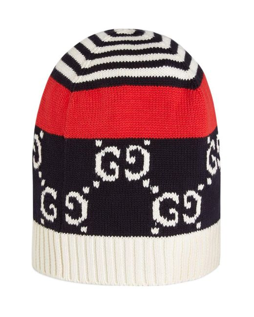 25f78d7666a ... Gucci - Blue Cotton Hat With GG Motif for Men - Lyst