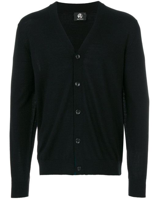 PS by Paul Smith - Black Button-down Cardigan for Men - Lyst