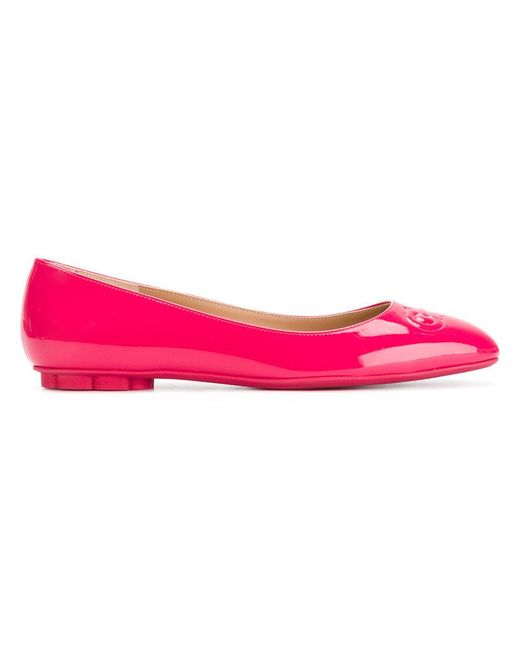 Ferragamo - Pink Broni Ballerina Shoes - Lyst