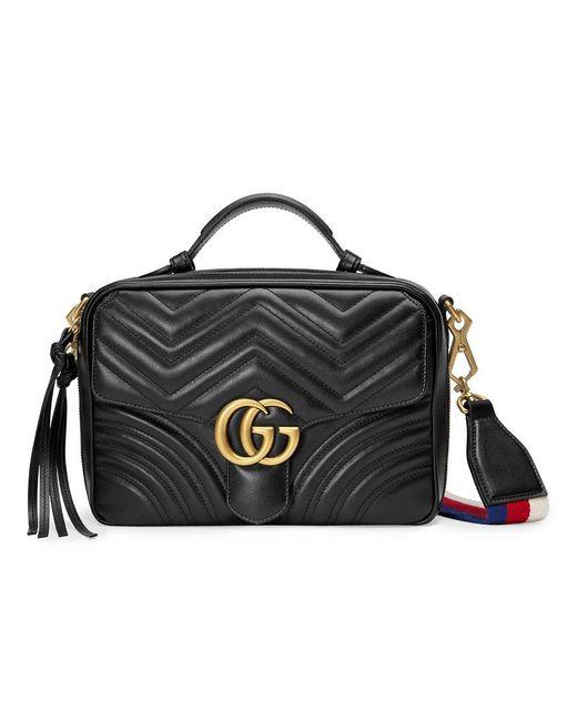 977db3925a5 Lyst - Sac à épaule GG Marmont matelassé Gucci en coloris Noir - 4 ...