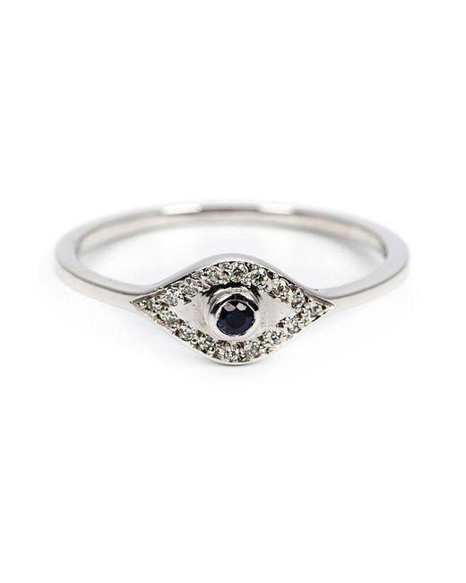 Ileana Makri - White Sapphire And Diamond Eye Ring - Lyst