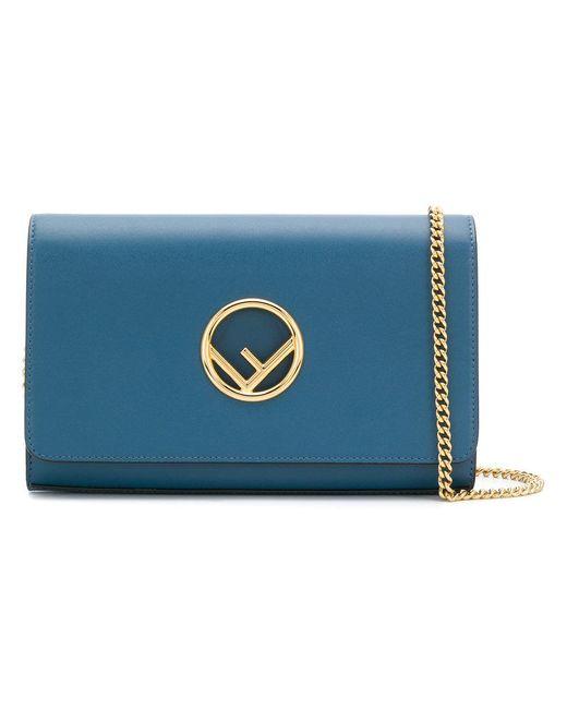 4a8237b6d109 Fendi - Blue Kan I F Wallet On Chain - Lyst ...