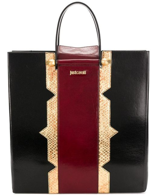 Just Cavalli - Black Shopper Tote - Lyst