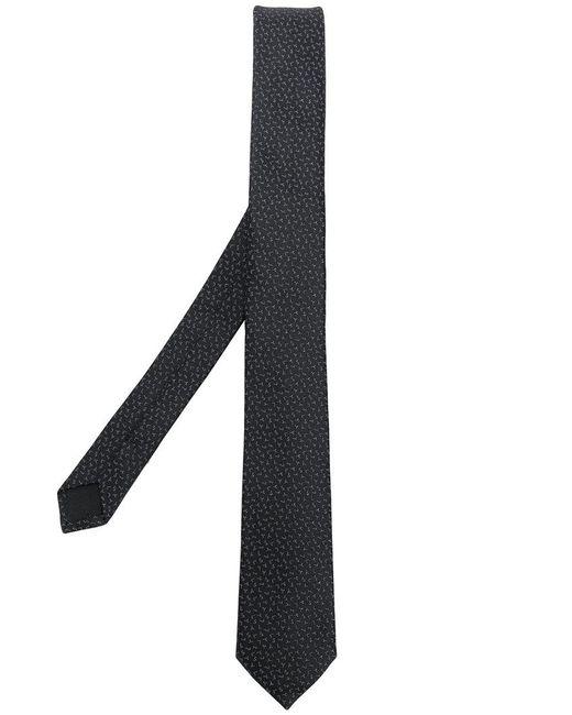Saint Laurent - Black Ysl Logo Jacquard Tie for Men - Lyst